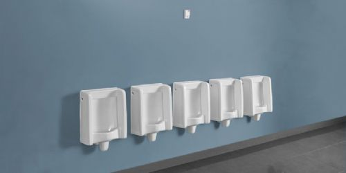Back Inlet Florida Urinal Kits with Concealed Cistern & Surface-Mounted Flush Control